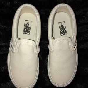 Vans Shoes - All White Slip On VANS! Kids Unisex Size 12c! NEW!